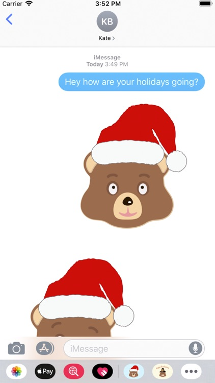 Holiday Emoji Bear screenshot-1