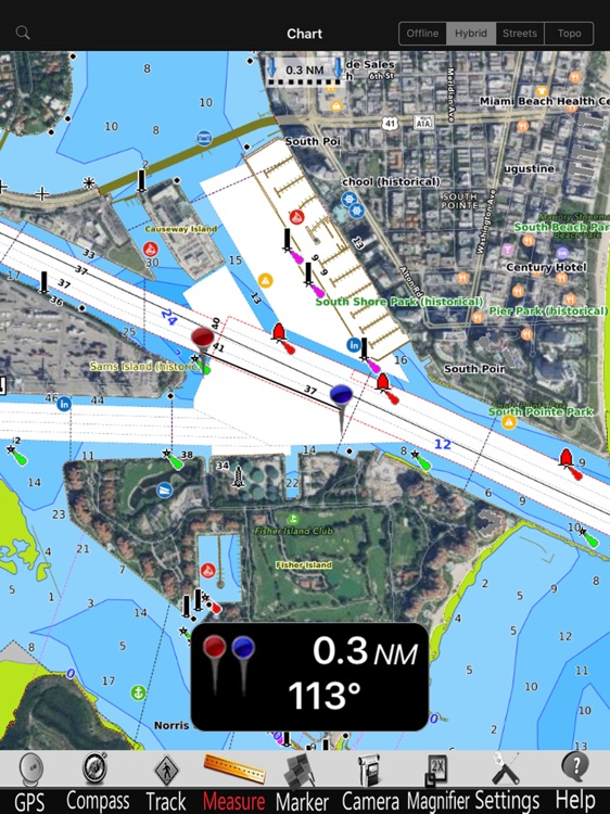 Brasil GPS Nautical Charts Pro screenshot-3
