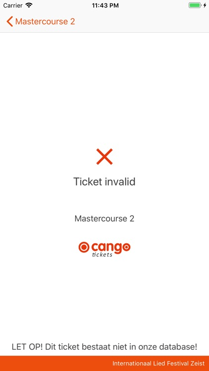 Cango Tickets Scanner