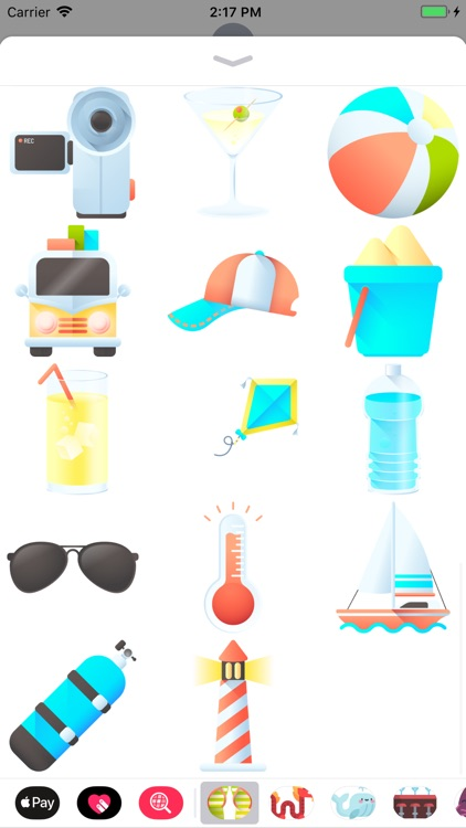Sun, Sea And Sand Stickers screenshot-3