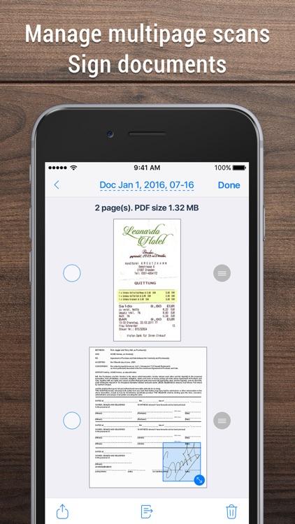 iScanner - PDF Scanner App. screenshot-3