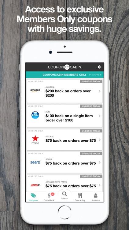 CouponCabin: Cash Back & Deals screenshot-4