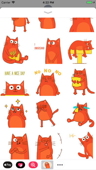 Red Cat Animated Stickers screenshot two