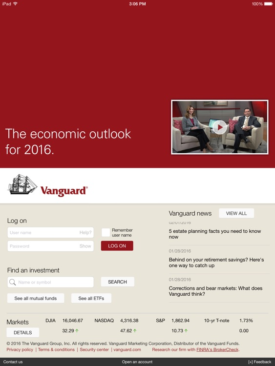 Vanguard for iPad