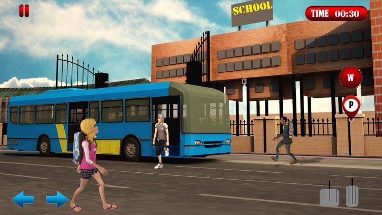 School Bus Simulator Game 2017 screenshot-3