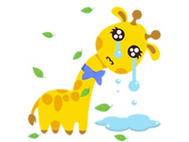 Adorable Tiny Giraffe Sticker