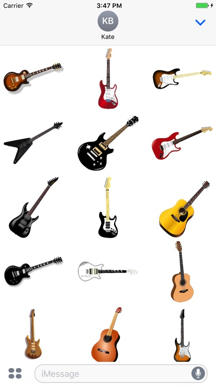 Guitar Stickers - Rock n' Roll