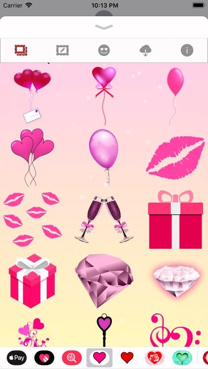 Pink Love • Emoji and stickers screenshot-8