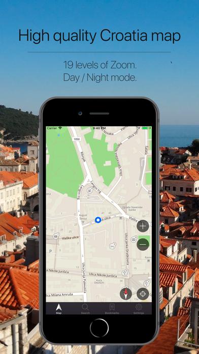 Croatia Offline Navigation Screenshot