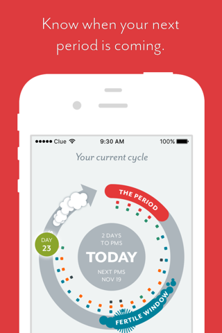 Clue - Health & Period Tracker screenshot 1