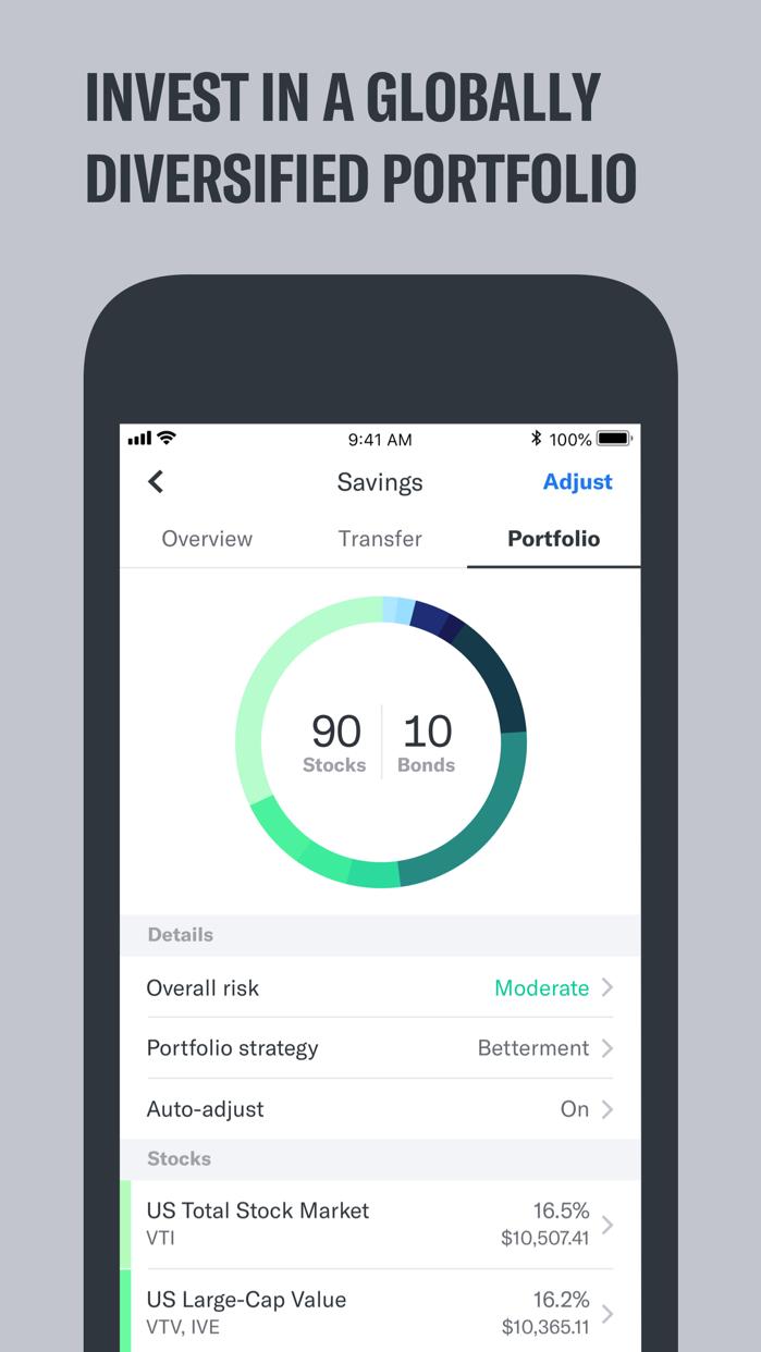 Betterment Screenshot