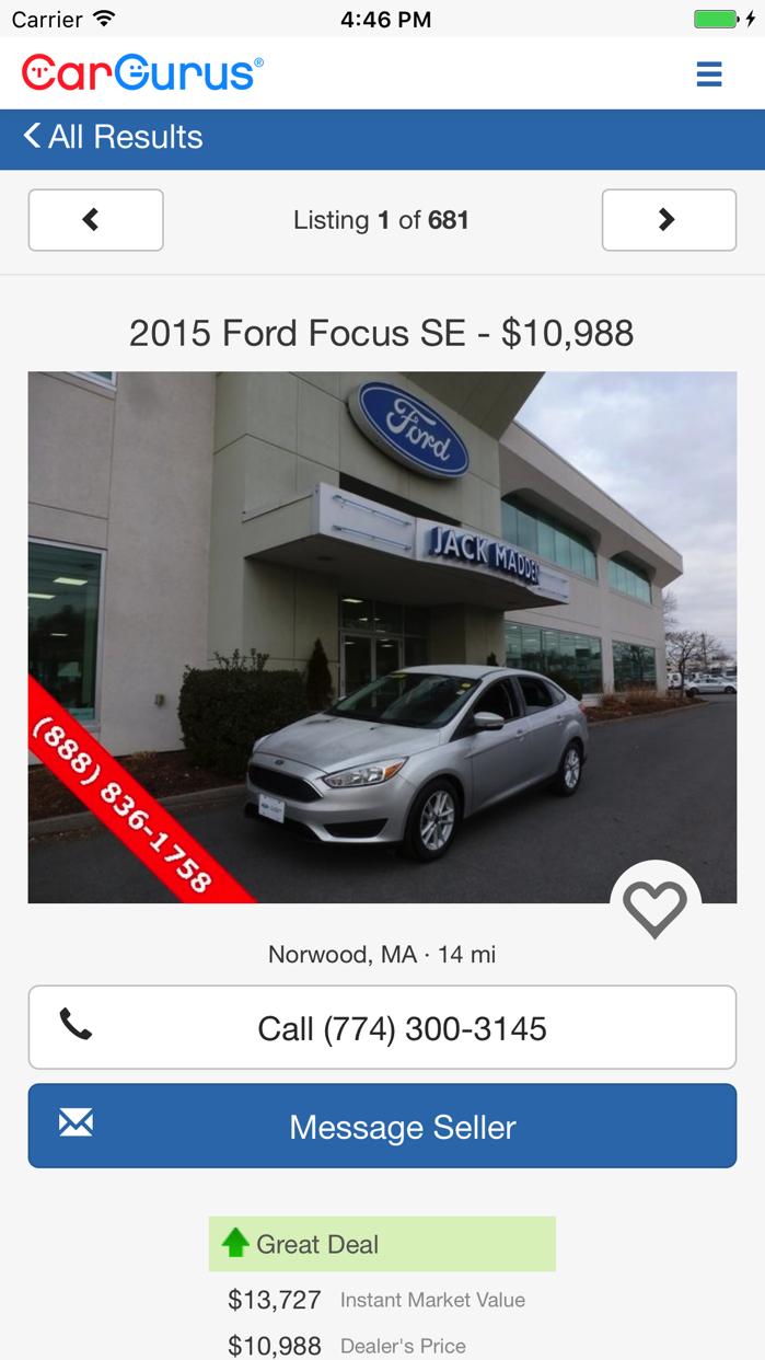 CarGurus: Shop Cars, Get Deals Screenshot