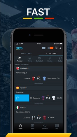 365Scores - Live Scores screenshot for iPhone