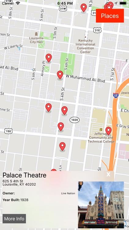 Louisville Ghost Map