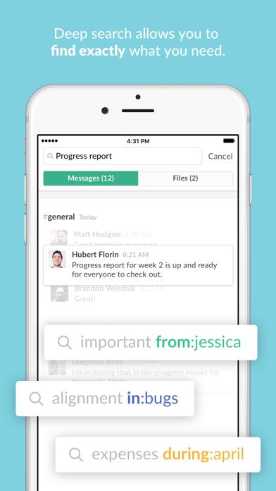 Screenshot 2 for Slack's iPhone app'