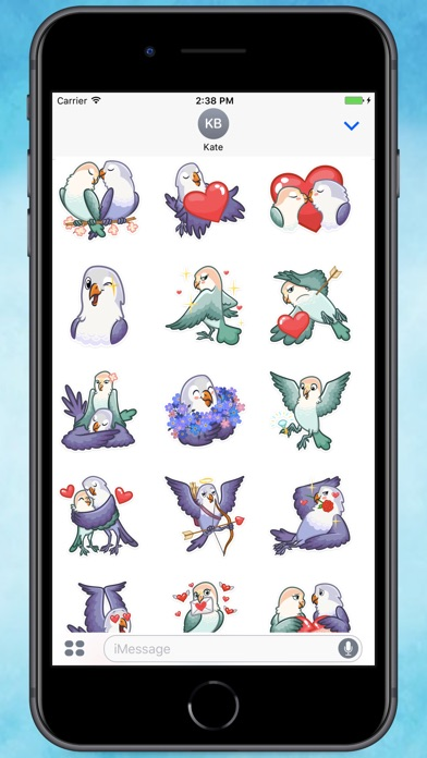 Screenshot for Birds in Love Stickers in Colombia App Store