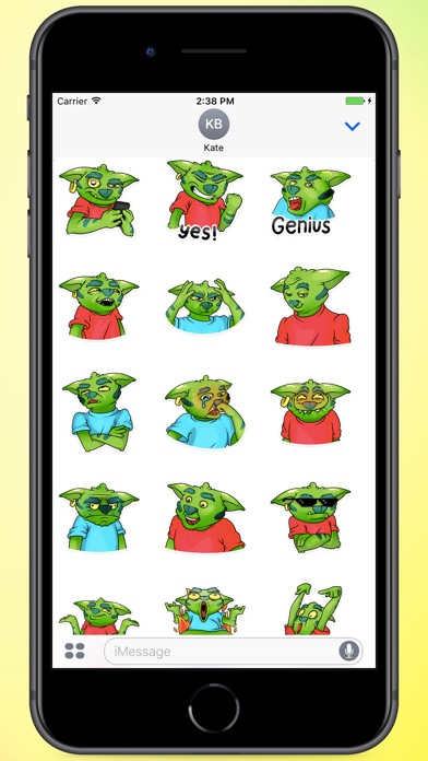Screenshot for Monster In Red Stickers in Colombia App Store