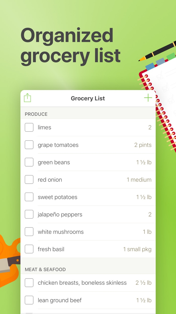 Mealime Meal Planner & Recipes Screenshot