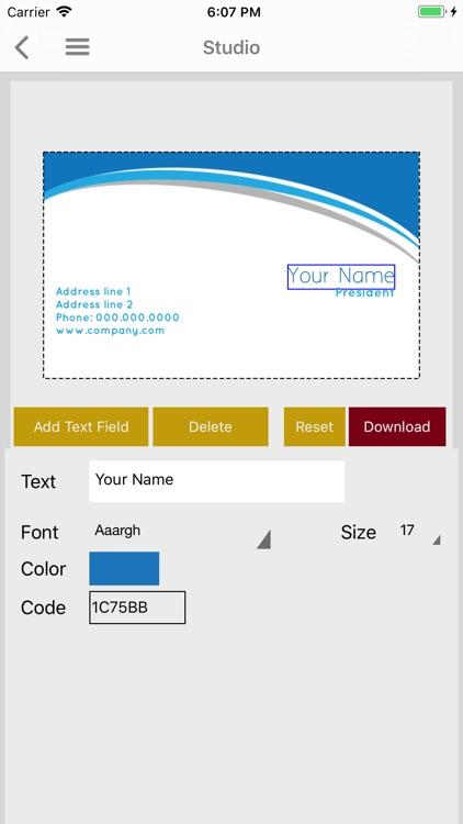 Easy Business Card Maker screenshot-3