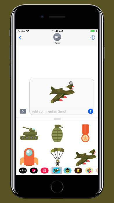 Military stickers screenshot three