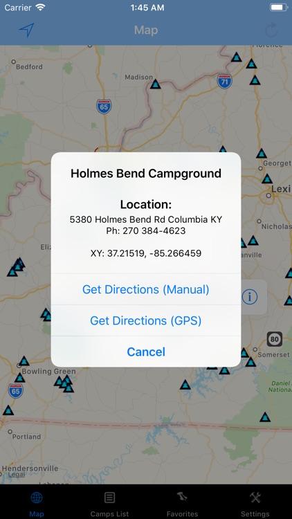 Kentucky – Camping & RV spots screenshot-3