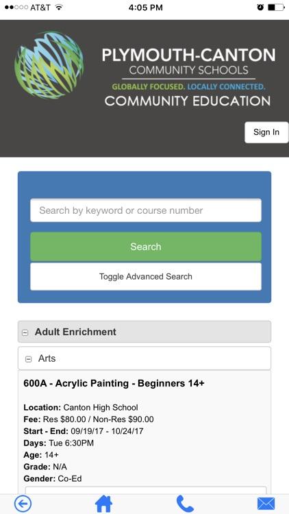 Plymouth-Canton Community Education Registration