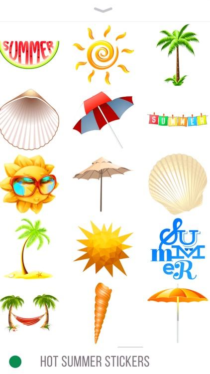 Hot Summer Stickers