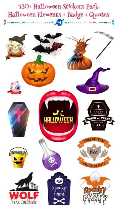 Halloween - Realistic Elements + Badge + Quotes screenshot 1