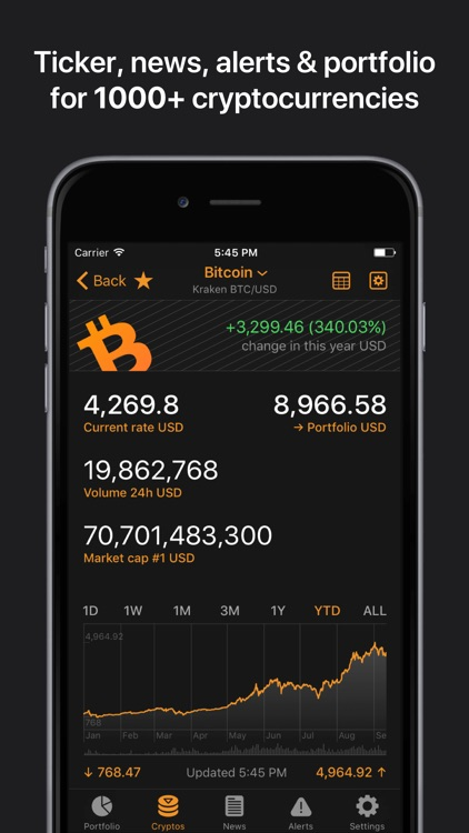 Crypto Pro: Bitcoin Ticker screenshot-1
