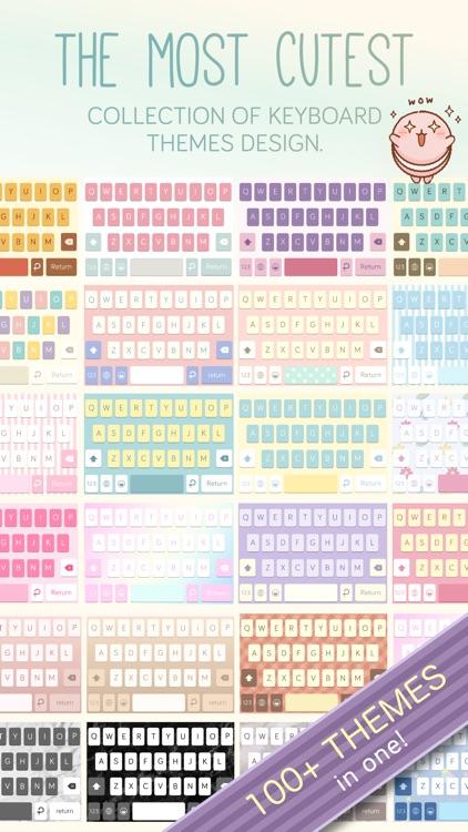 Pastel Keyboard Themes Color screenshot-4