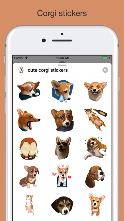 Corgi - cute dog stickers