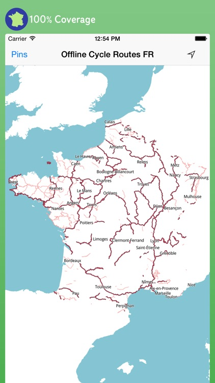 Offline Cycle Routes France