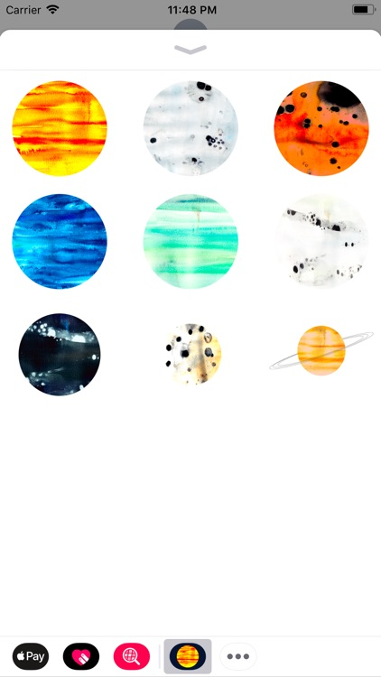 Abstracts Planetary Stickers
