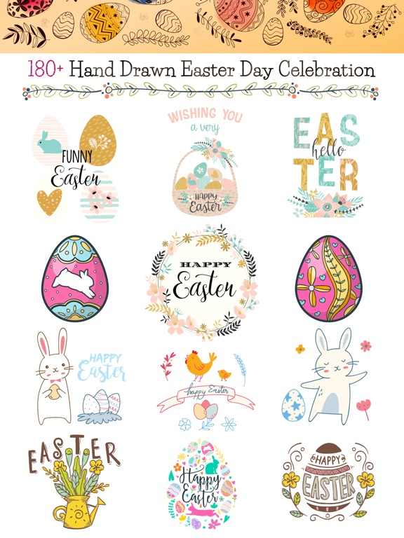Hand Drawn Easter Day Stickers screenshot 6