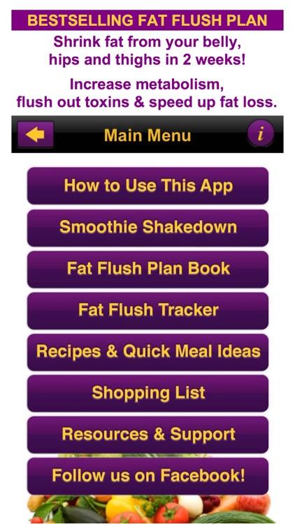 Fat Flush Diet & Meal Tracker