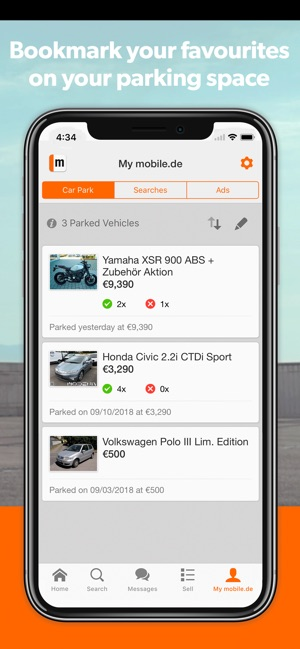 mobile.de - car market on the App Store