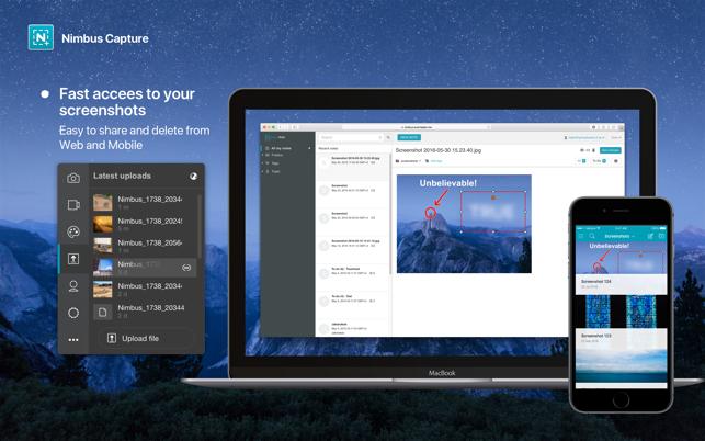 Nimbus Capture: Screenshot on the Mac App Store