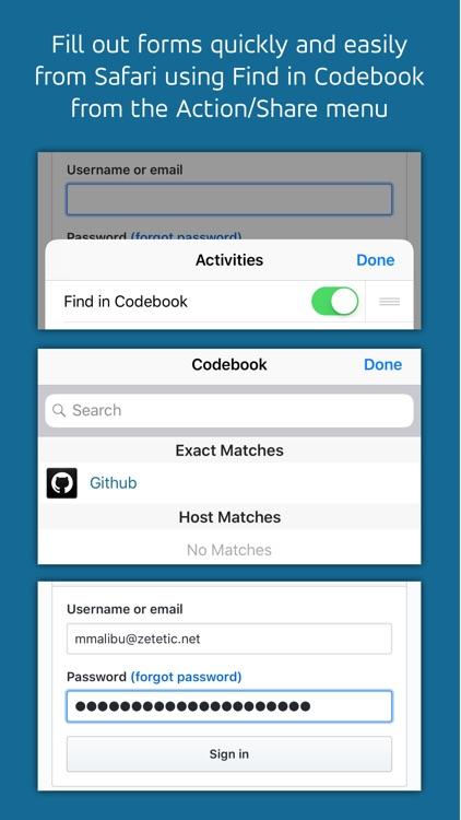 Codebook Password Manager screenshot-3