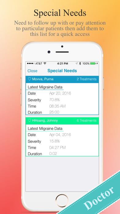 Migraine Tracker screenshot two