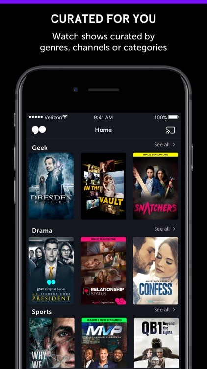 go90 – Stream TV & Live Sports screenshot-3