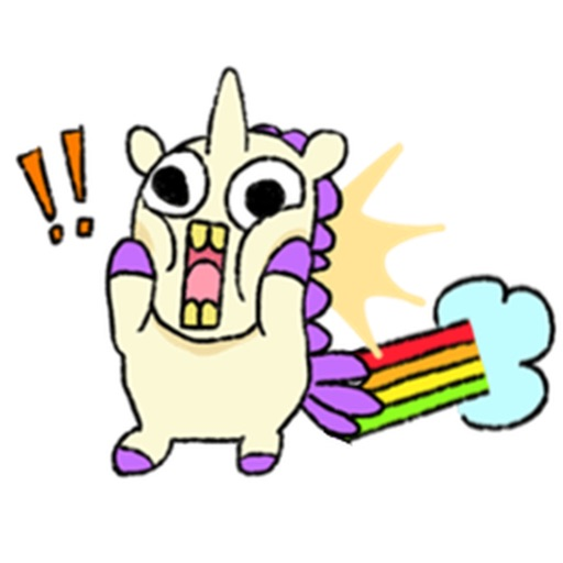 Noisy and Cute Unicorn Sticker