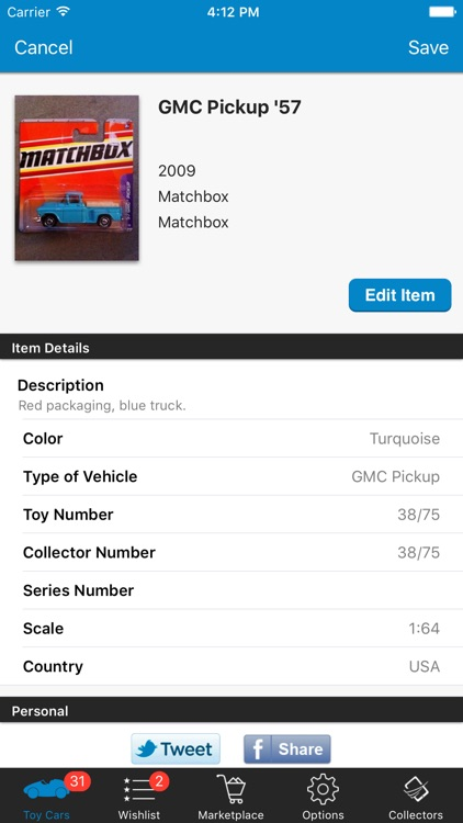 Toy Car Collector Database screenshot-1
