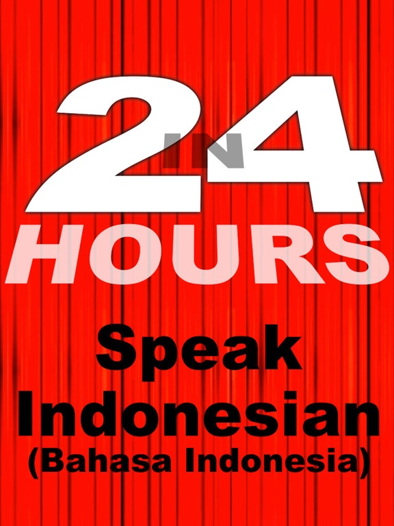 In 24 Hours Learn Indonesian iPad