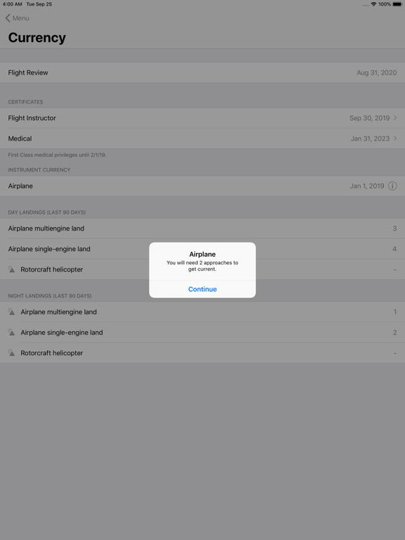 dBrief - Pilot logbook screenshot