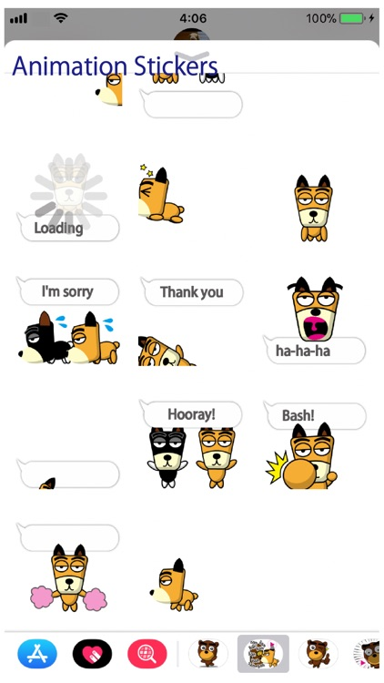 TF-Dog Animation 2 Stickers screenshot-3