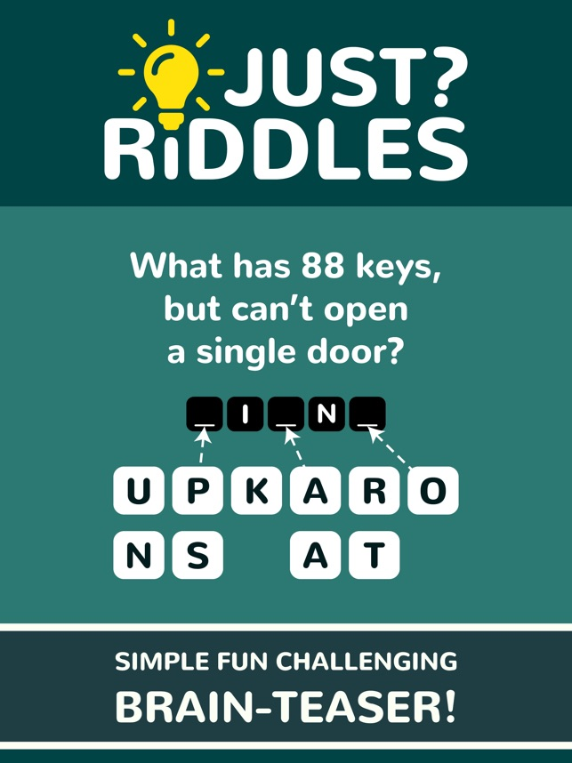 Just Riddles on the App Store