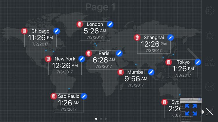 map:clock - World Map & Clock screenshot-6
