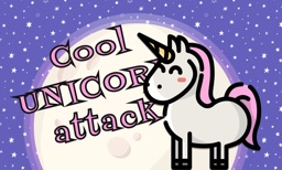 Cool unicorn attack in cosmos