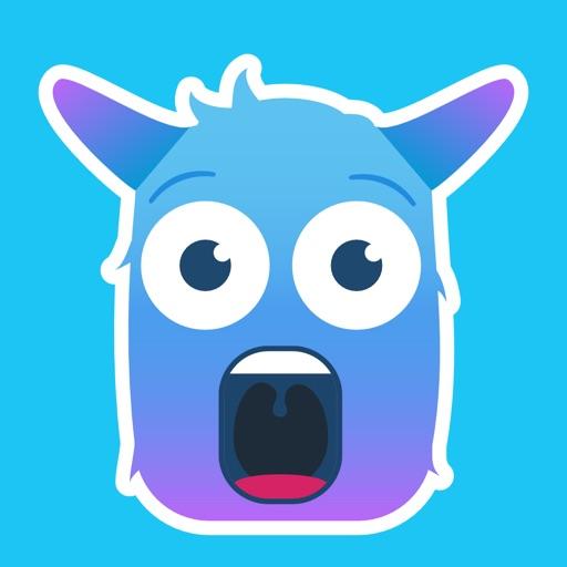 Blue Monster Emojis