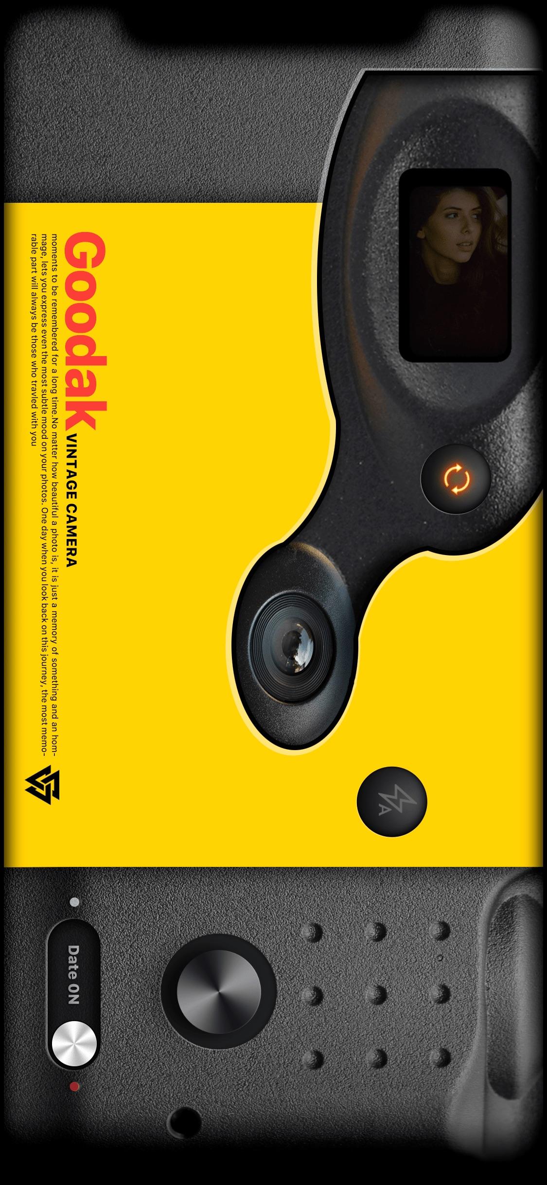 Screenshot do app Goodak Cam - analog retro film